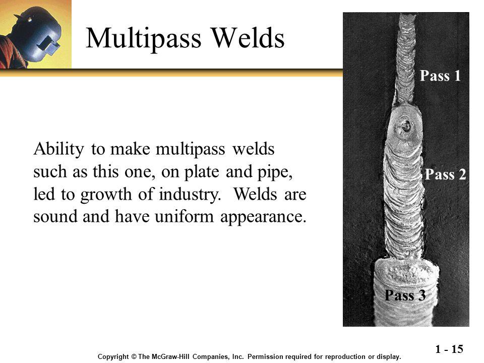 Multipass Welds Pass 1.