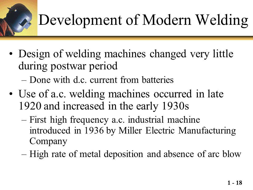 Development of Modern Welding