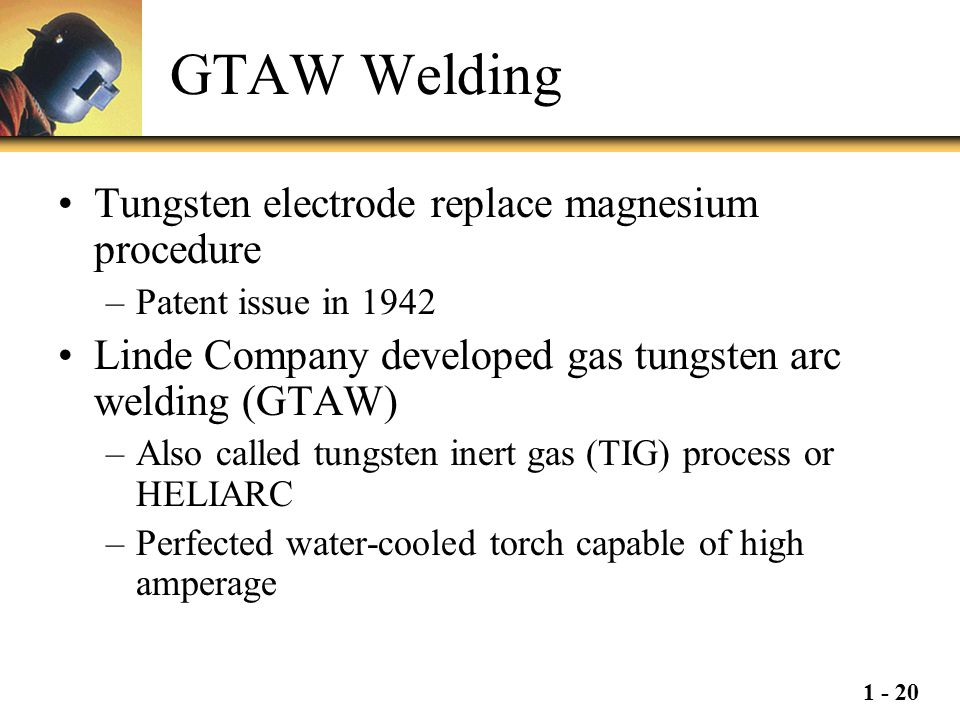GTAW Welding Tungsten electrode replace magnesium procedure