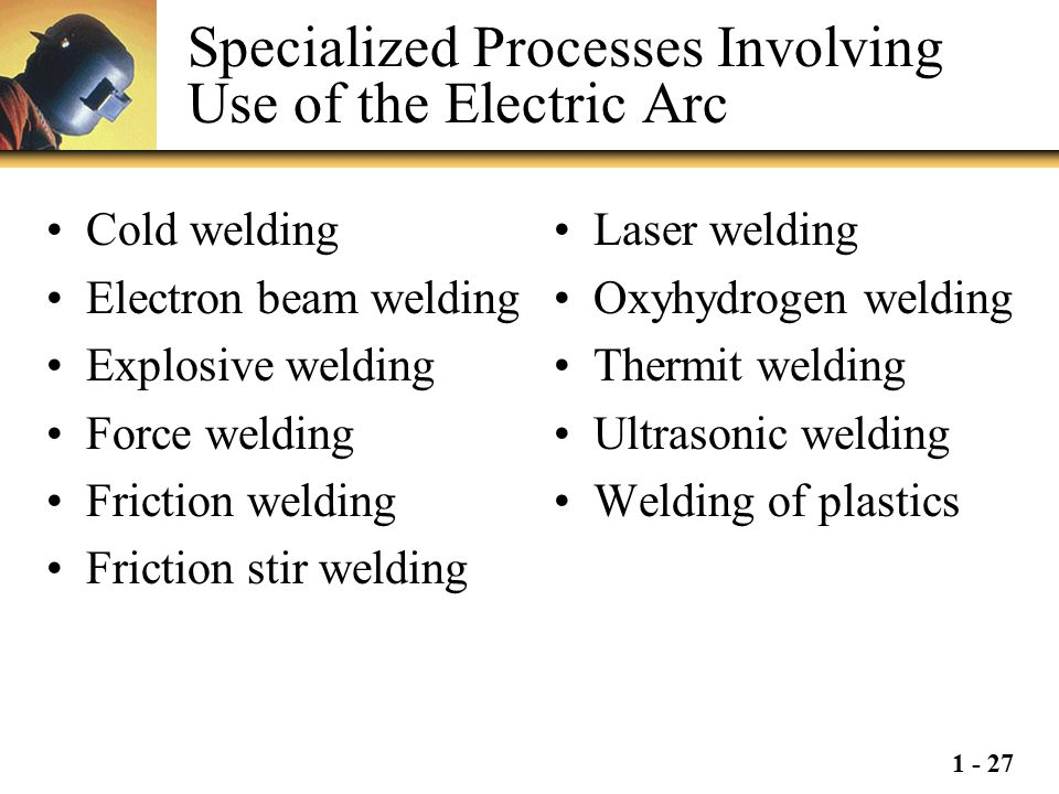 Specialized Processes Involving Use of the Electric Arc