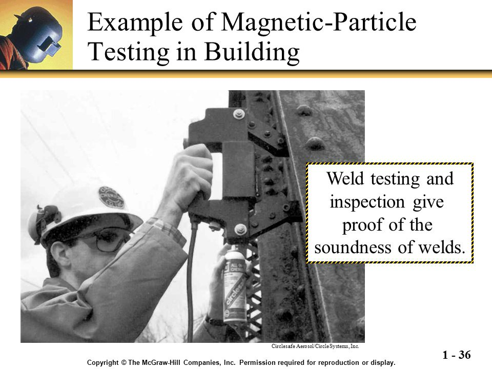 Example of Magnetic-Particle Testing in Building