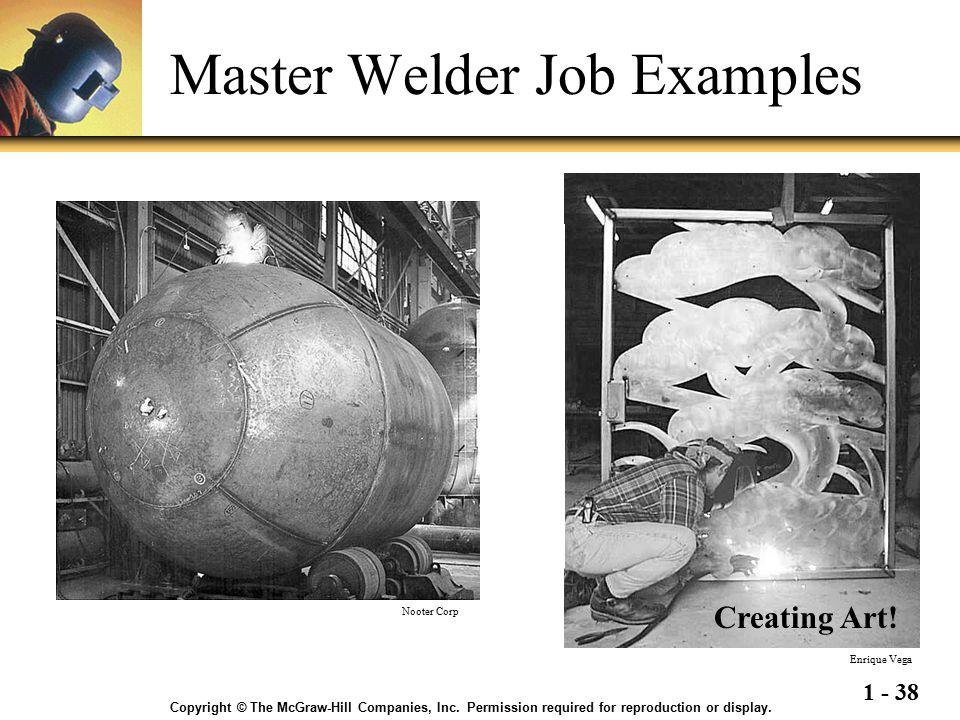 Master Welder Job Examples