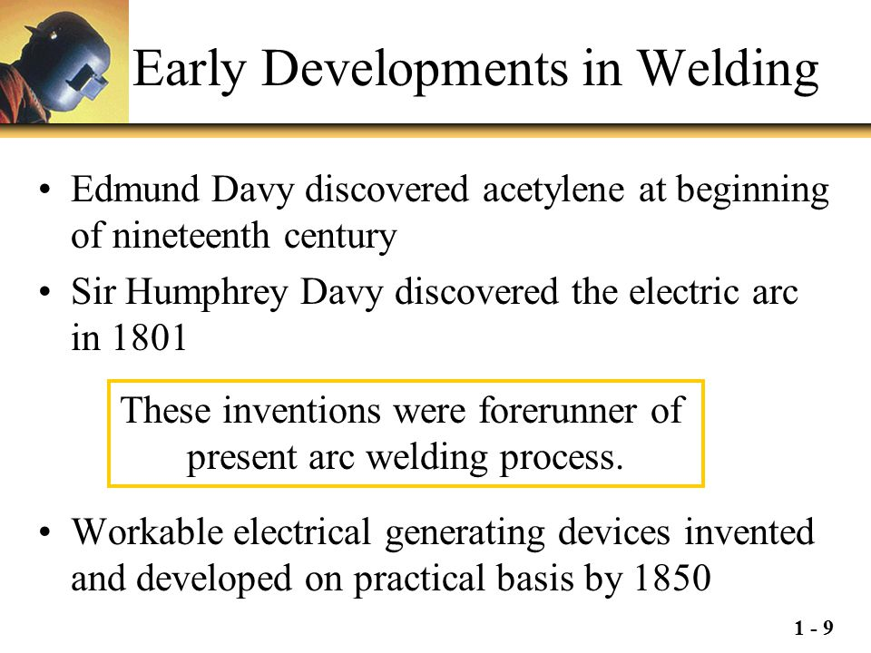Early Developments in Welding