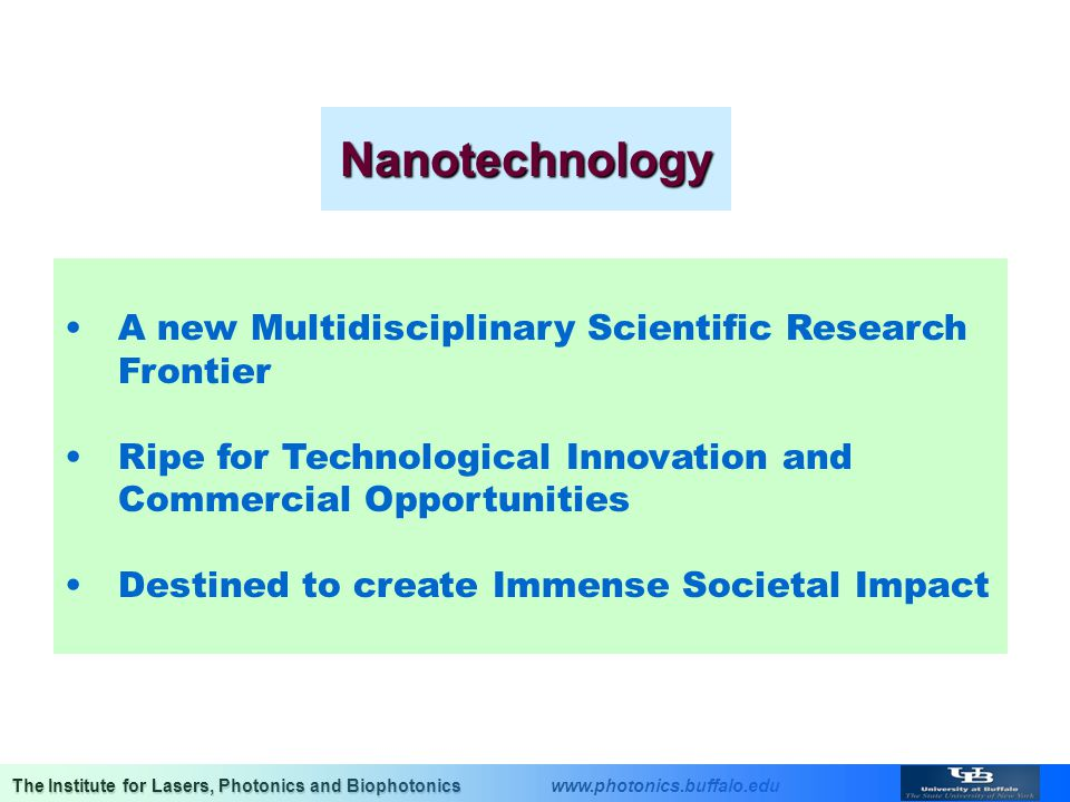Nanotechnology A new Multidisciplinary Scientific Research Frontier