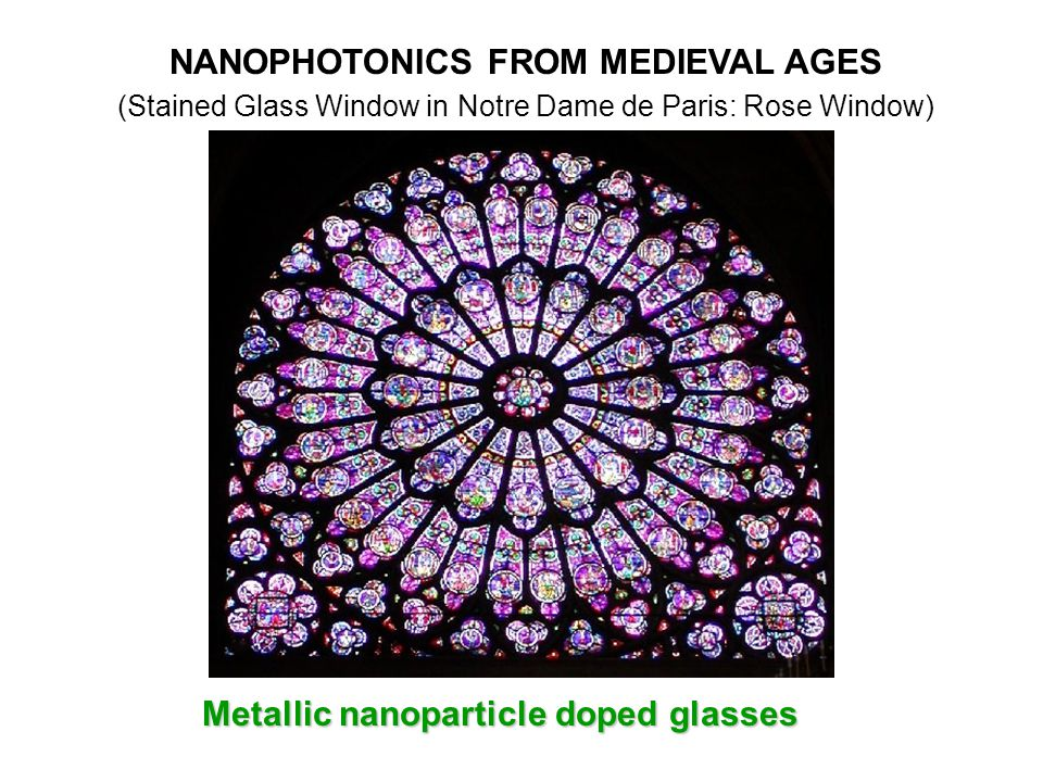 NANOPHOTONICS FROM MEDIEVAL AGES Metallic nanoparticle doped glasses