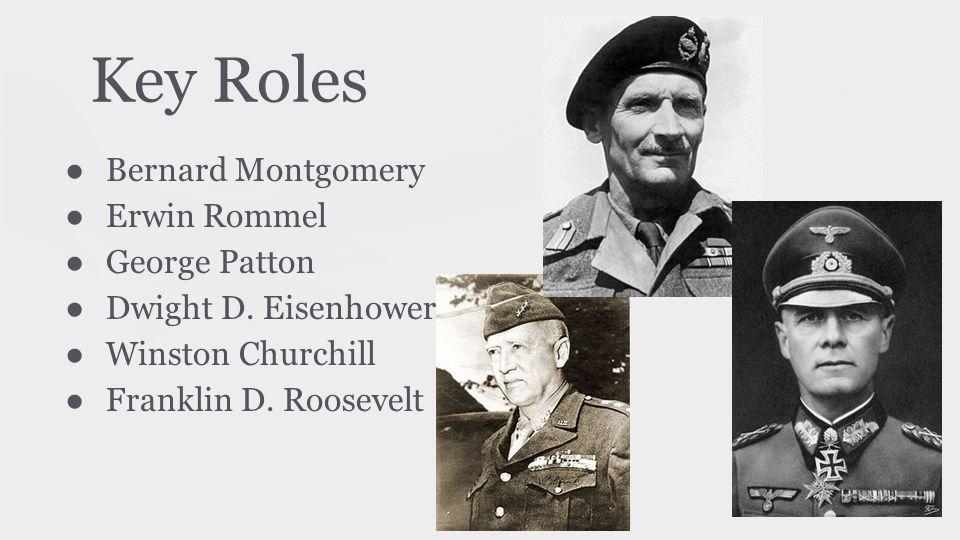 Key Roles Bernard Montgomery Erwin Rommel George Patton