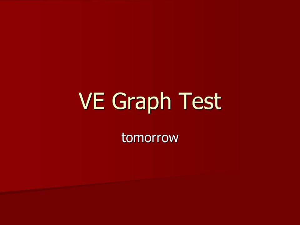 VE Graph Test tomorrow