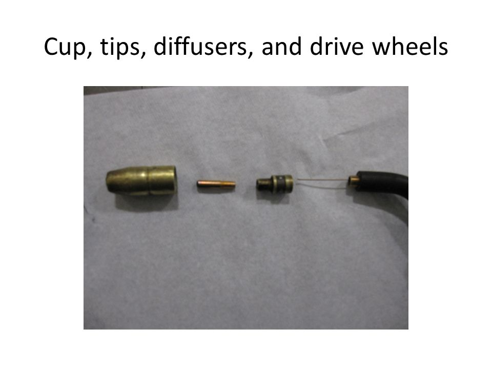 Cup, tips, diffusers, and drive wheels