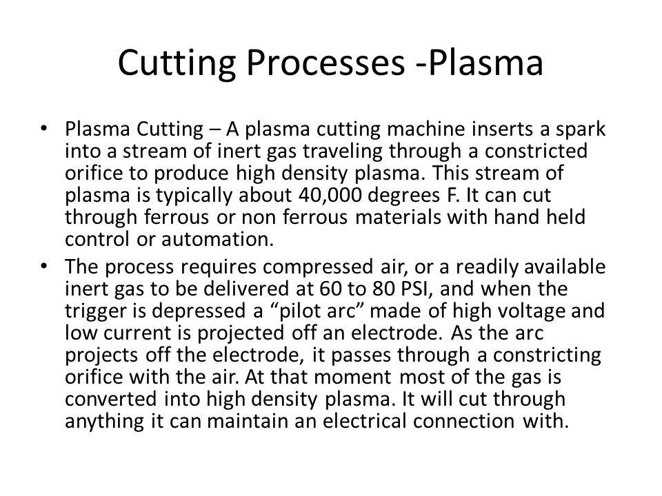 Cutting Processes -Plasma