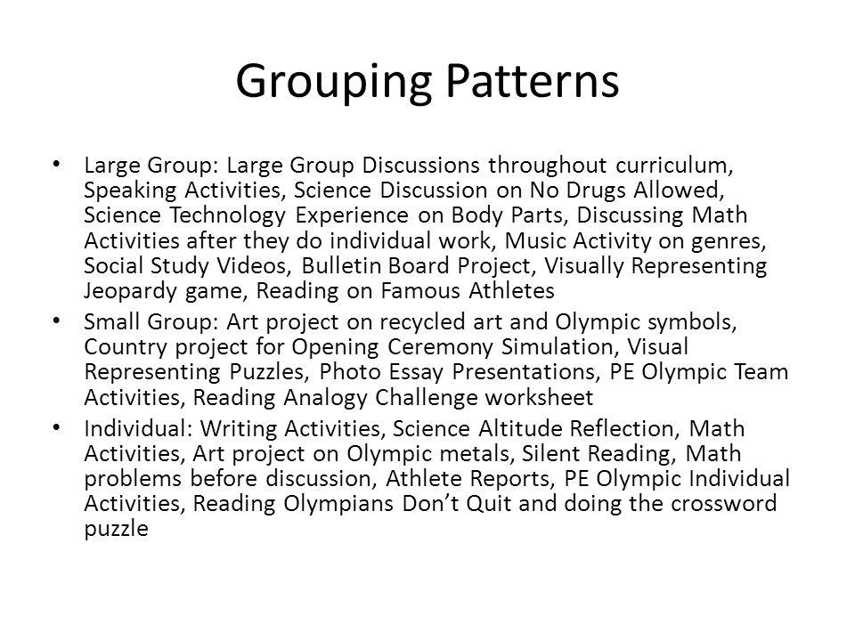 Grouping Patterns