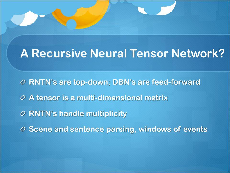 A Recursive Neural Tensor Network