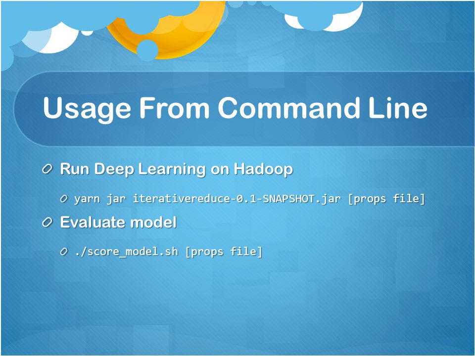 Usage From Command Line