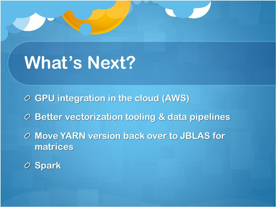 What's Next GPU integration in the cloud (AWS)