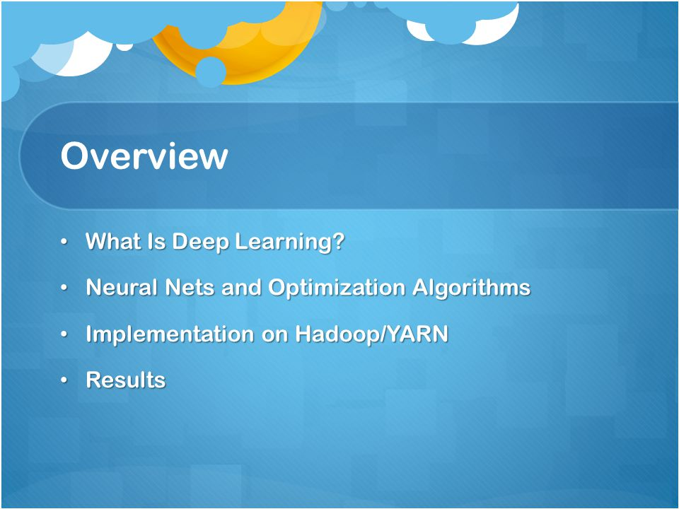 Overview What Is Deep Learning