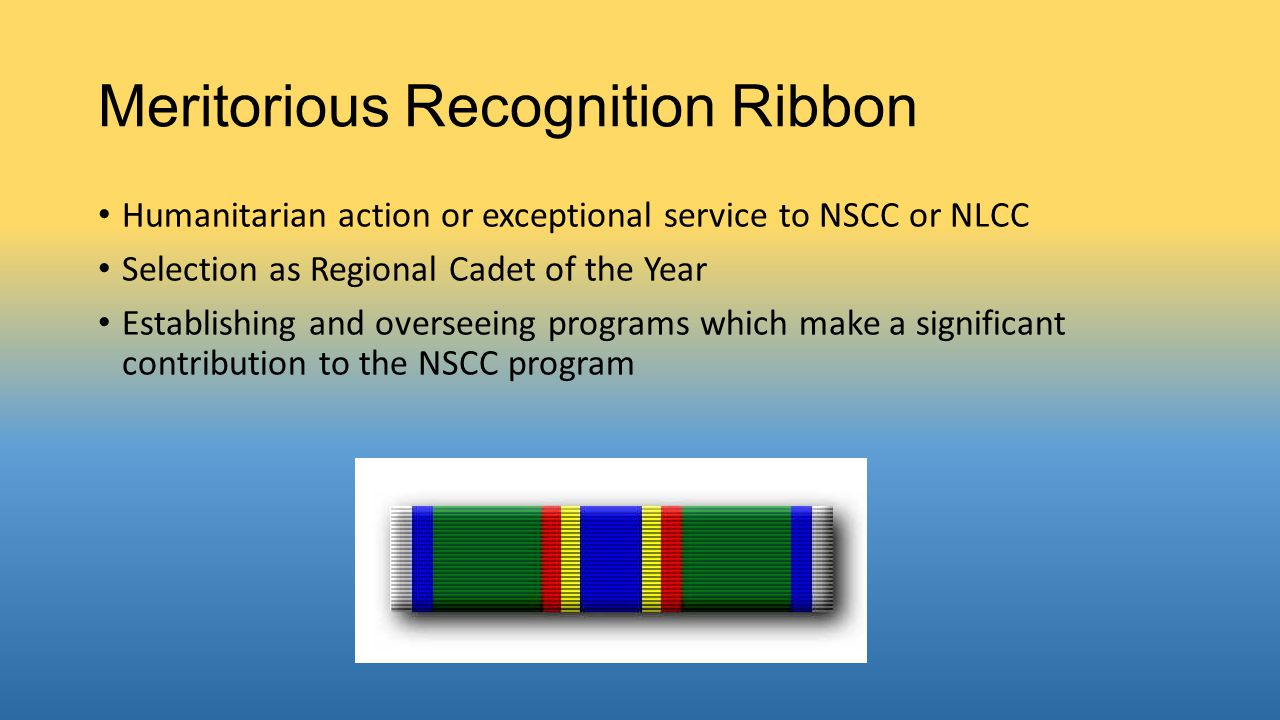 Meritorious Recognition Ribbon