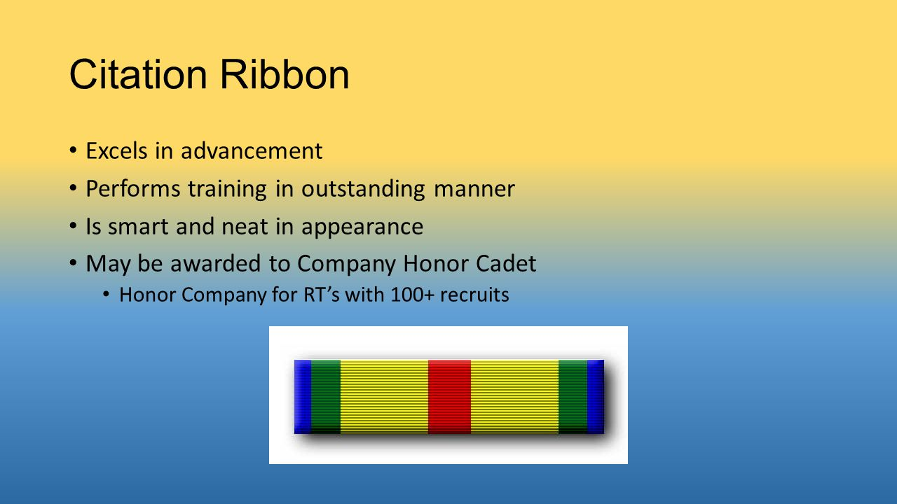 Citation Ribbon Excels in advancement