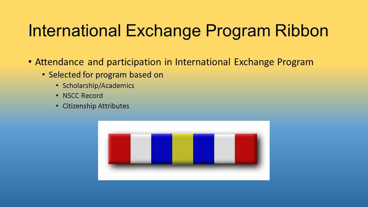 International Exchange Program Ribbon