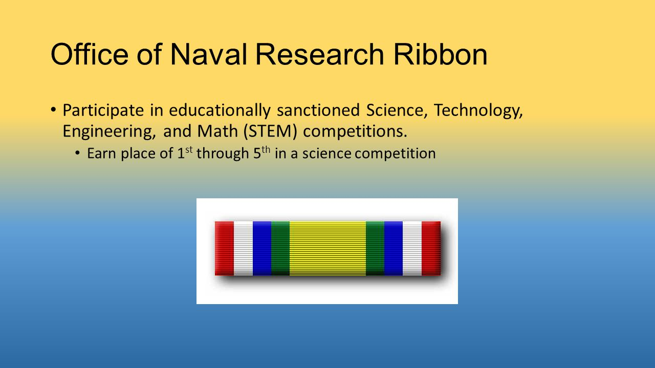 Office of Naval Research Ribbon