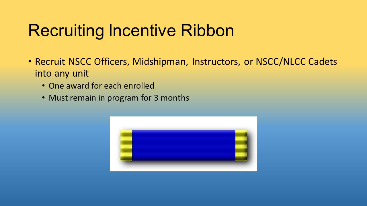 Recruiting Incentive Ribbon