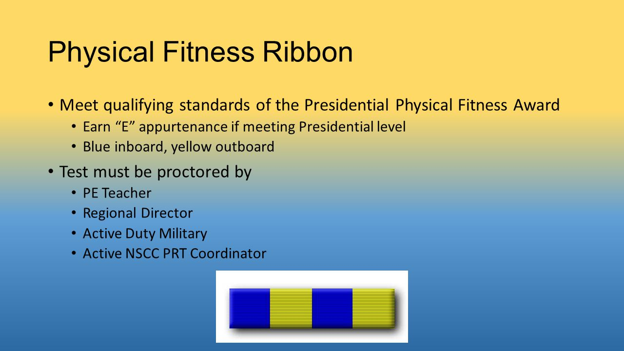 Physical Fitness Ribbon