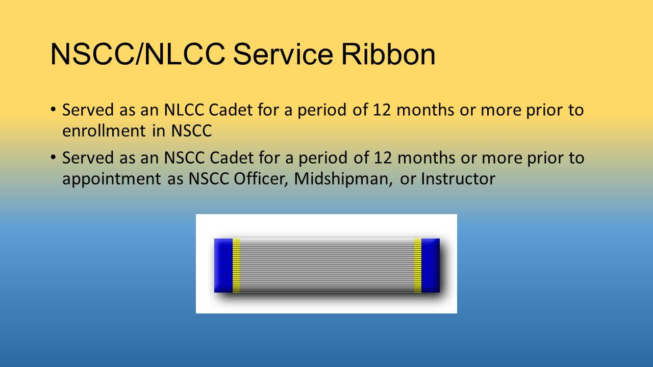 NSCC/NLCC Service Ribbon
