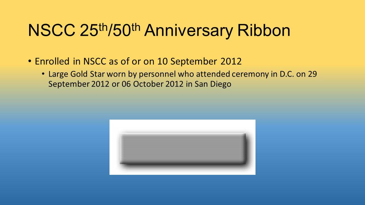 NSCC 25th/50th Anniversary Ribbon