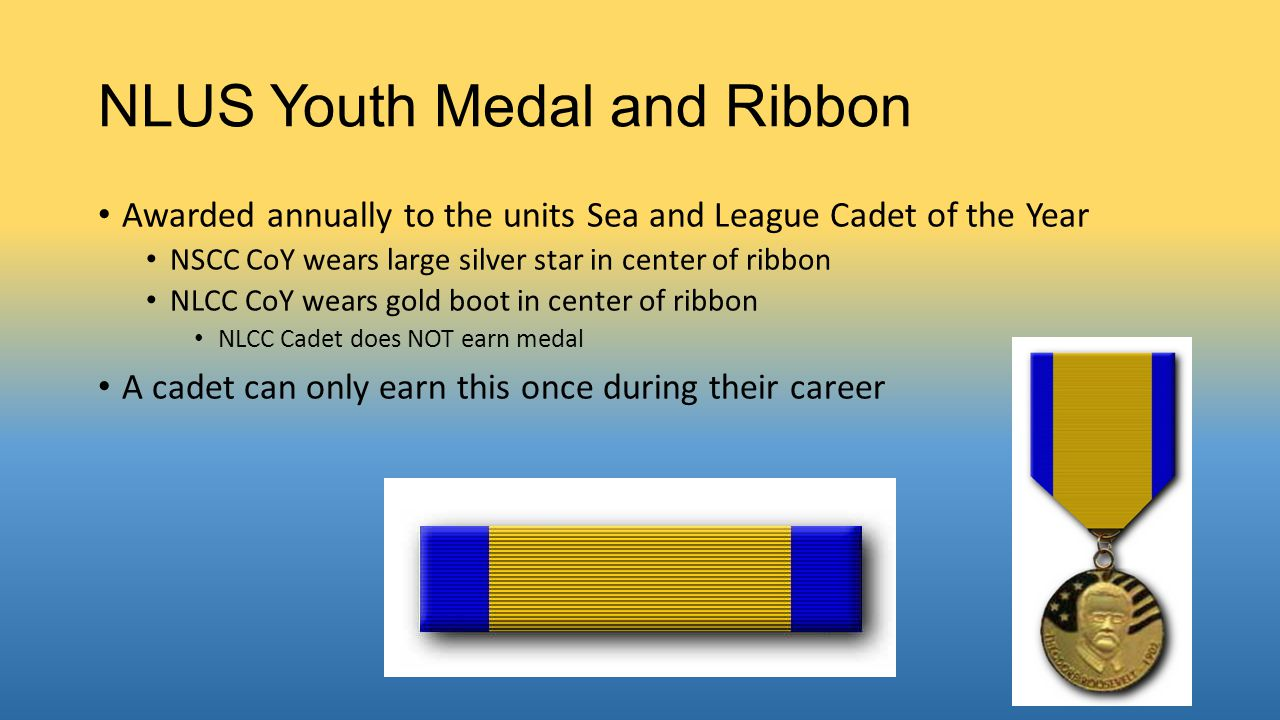 NLUS Youth Medal and Ribbon