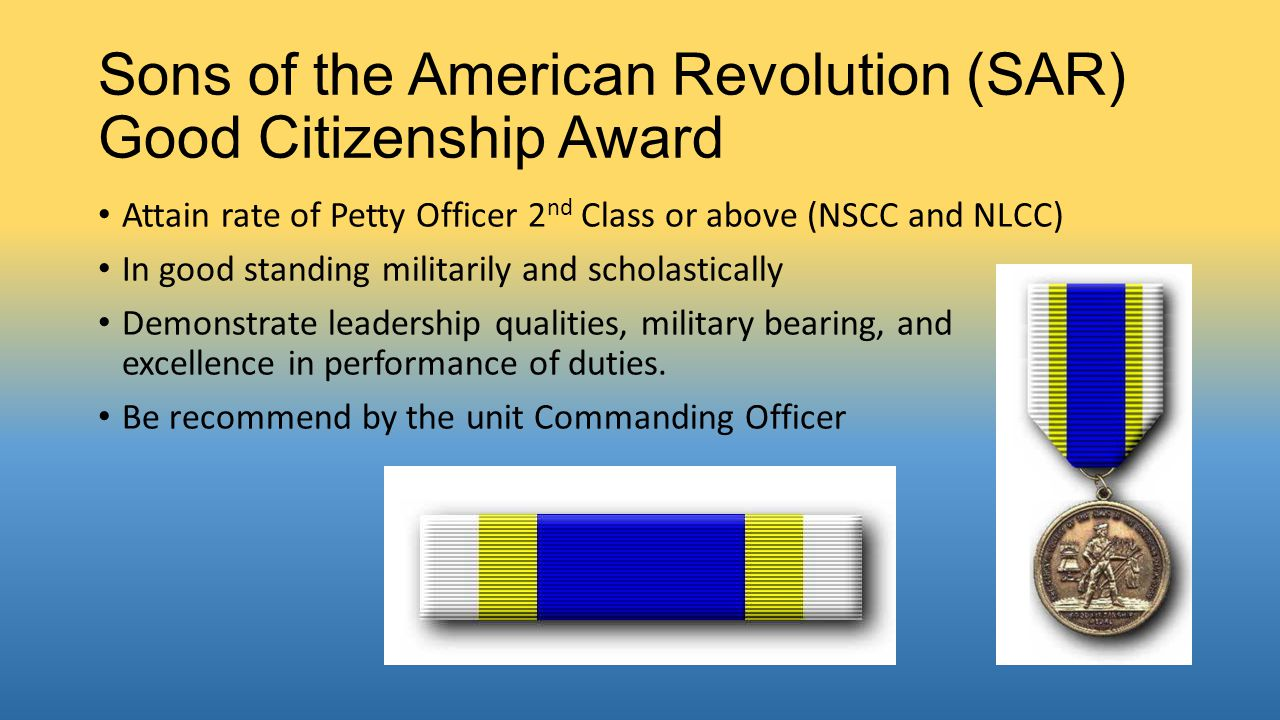 Sons of the American Revolution (SAR) Good Citizenship Award
