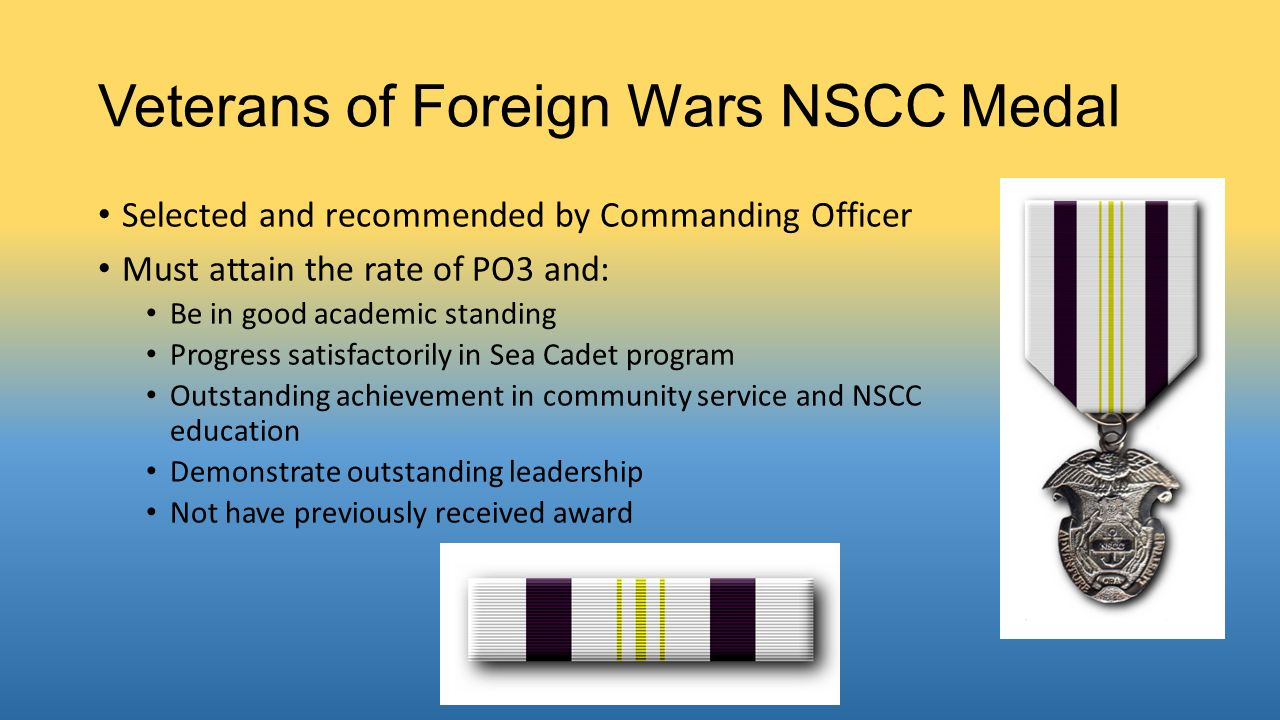 Veterans of Foreign Wars NSCC Medal