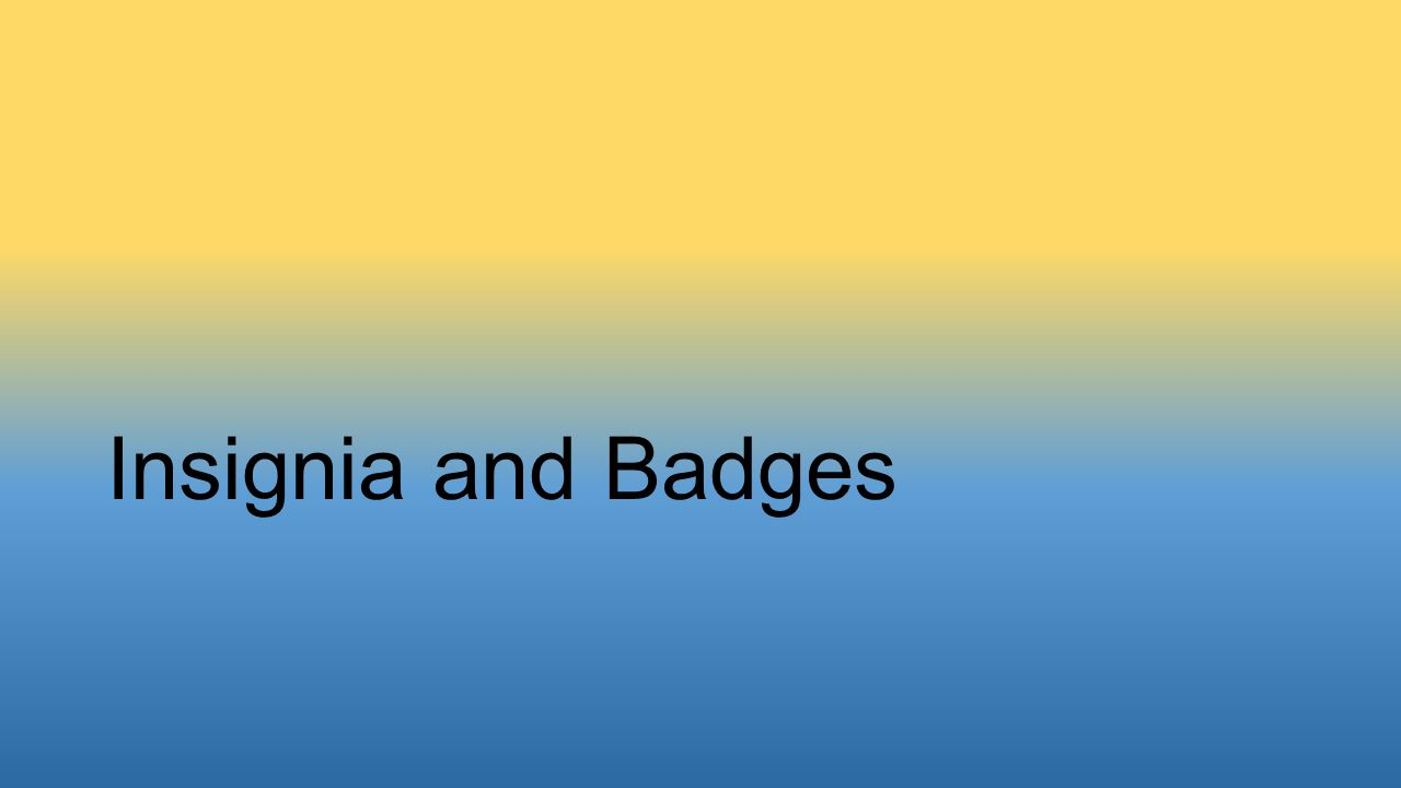 Insignia and Badges