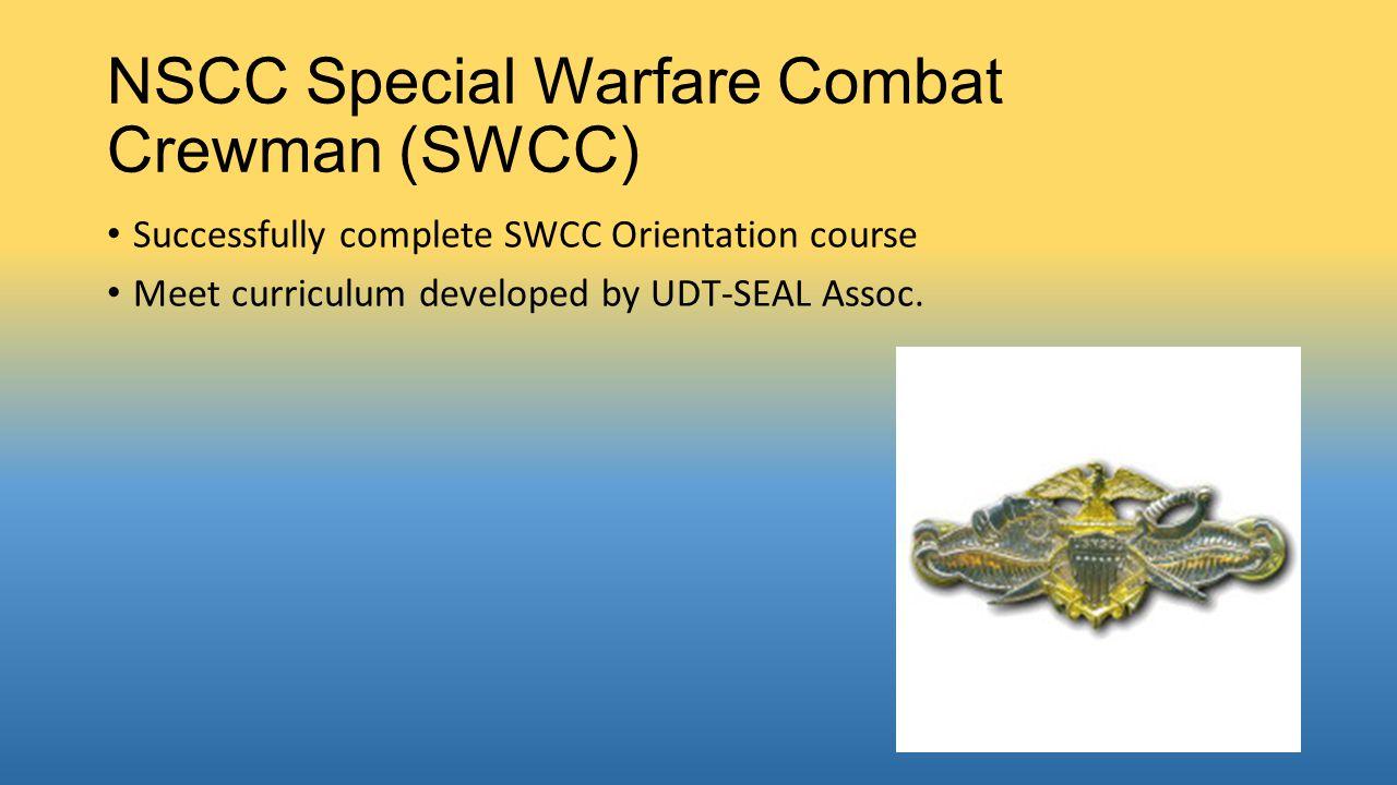 NSCC Special Warfare Combat Crewman (SWCC)