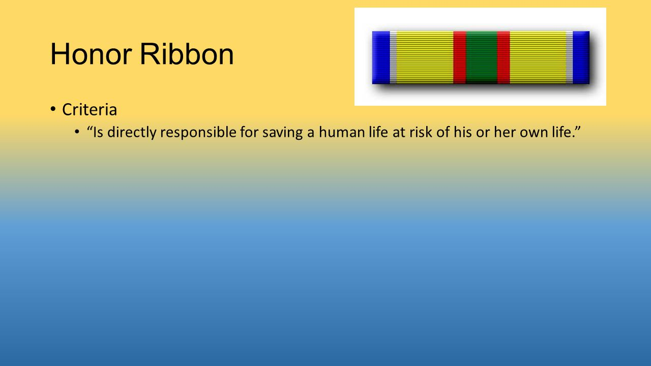 Honor Ribbon Criteria.