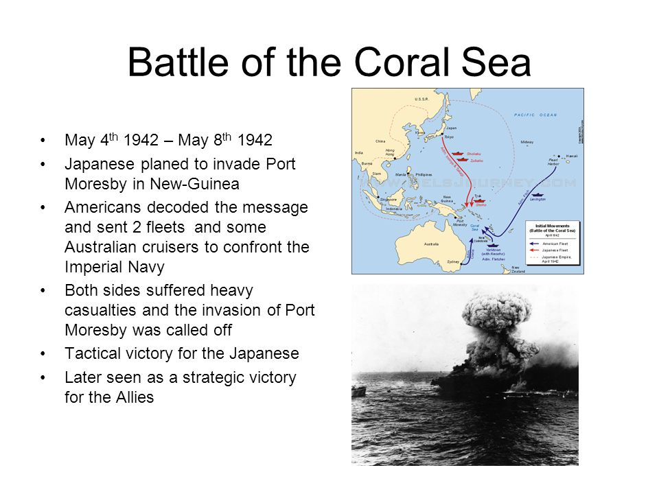 Battle of the Coral Sea May 4th 1942 – May 8th 1942