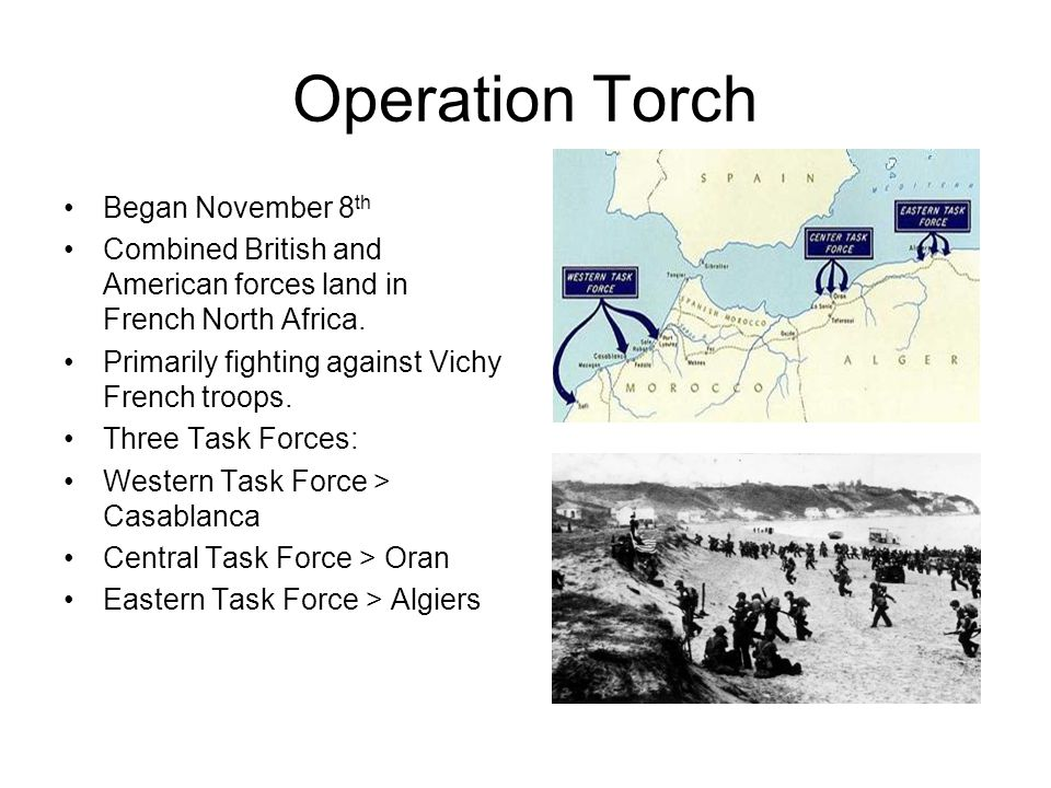 Operation Torch Began November 8th