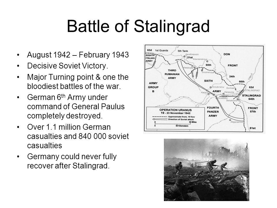 Battle of Stalingrad August 1942 – February 1943