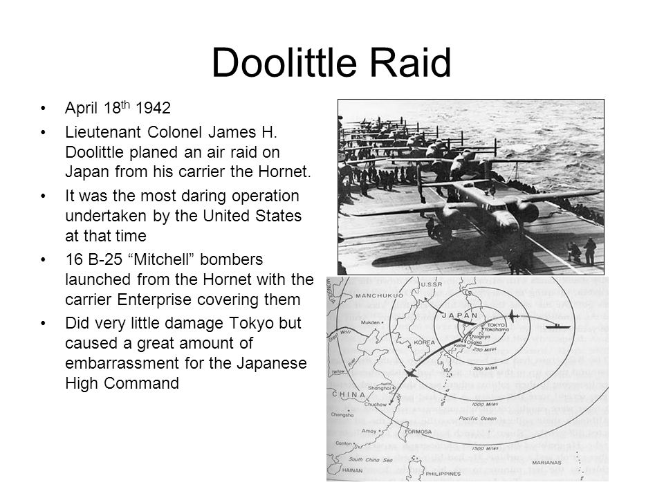 Doolittle Raid April 18th 1942