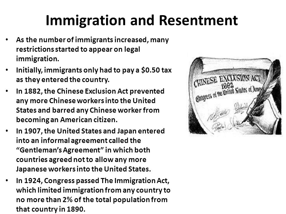 Immigration and Resentment