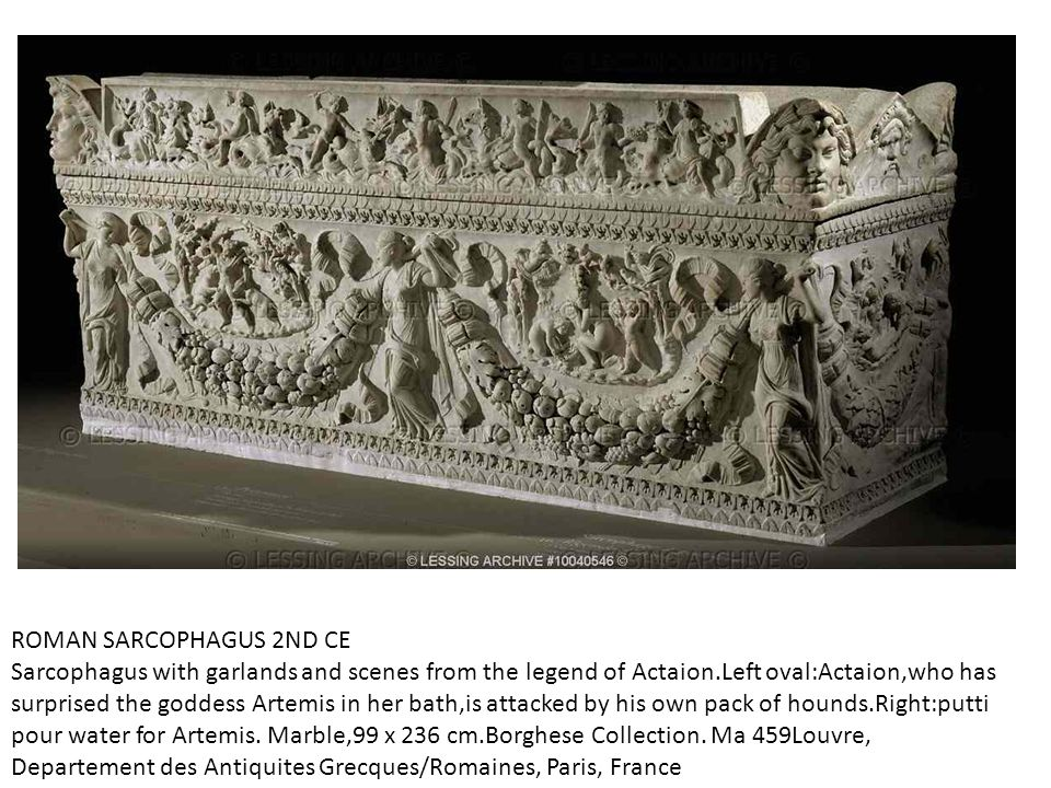 ROMAN SARCOPHAGUS 2ND CE