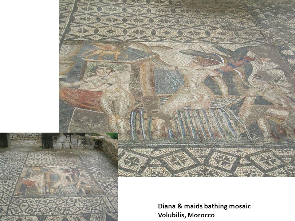 Diana & maids bathing mosaic