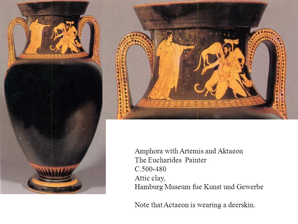 Amphora with Artemis and Aktaeon