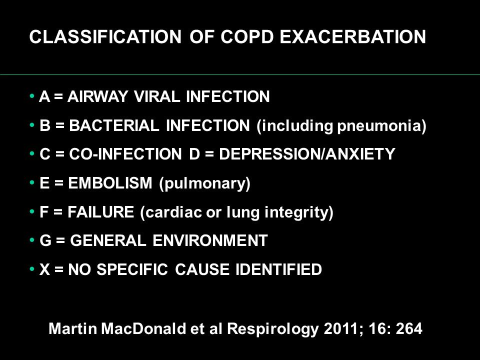 CLASSIFICATION OF COPD EXACERBATION