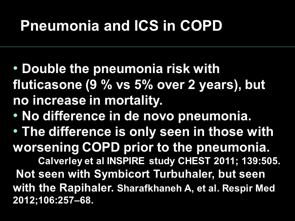 Pneumonia and ICS in COPD