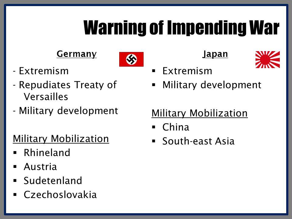 Warning of Impending War
