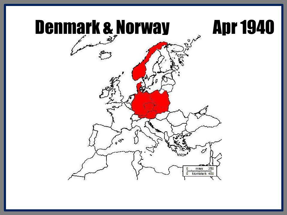 Denmark & Norway Apr 1940