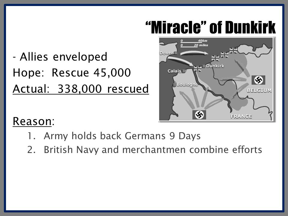 Miracle of Dunkirk - Allies enveloped Hope: Rescue 45,000
