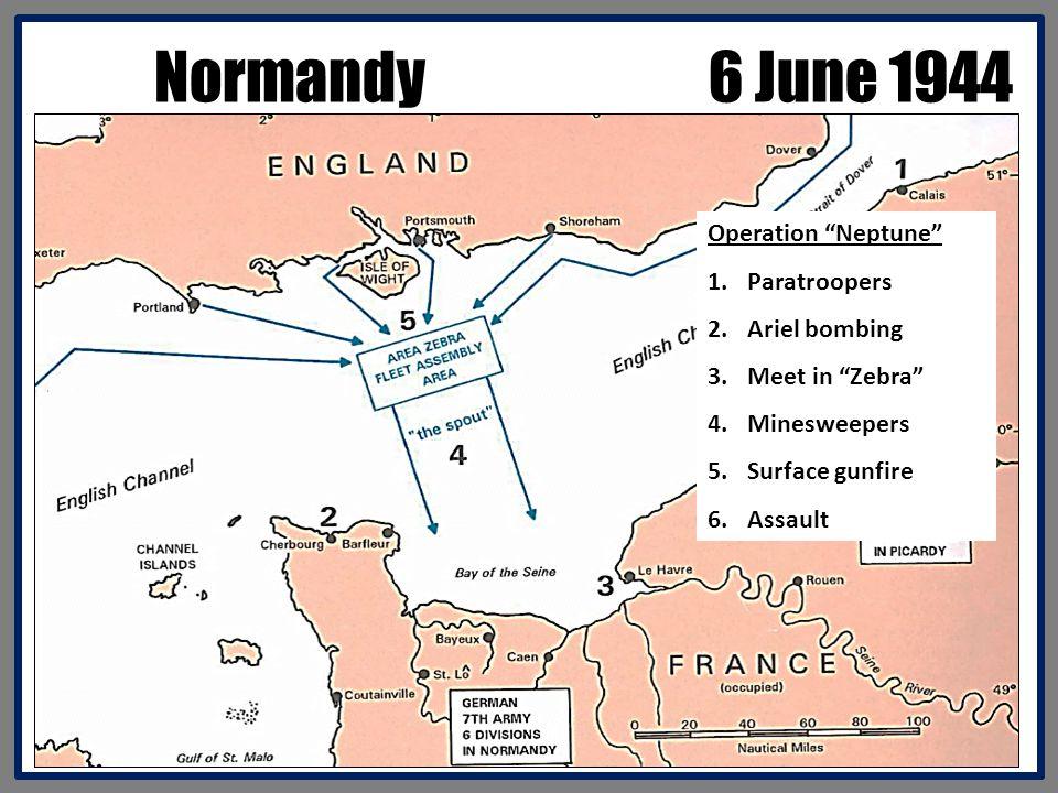 Normandy 6 June 1944 Operation Neptune Paratroopers Ariel bombing