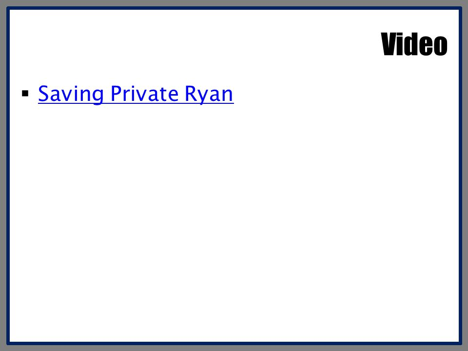 Video Saving Private Ryan