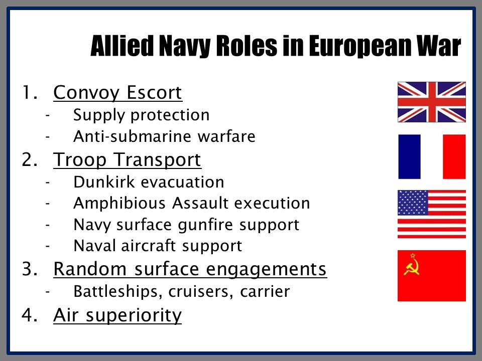 Allied Navy Roles in European War