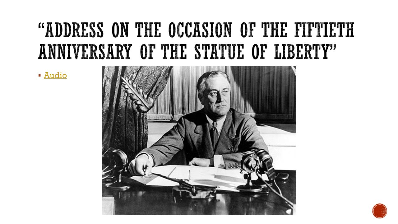 Address on the Occasion of the Fiftieth Anniversary of the Statue of Liberty