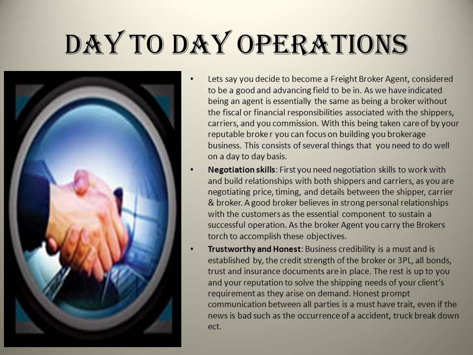 Day to Day Operations
